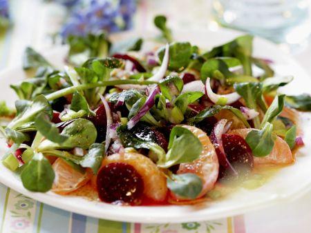 Rapunzelsalat mit Roter Bete und Orange