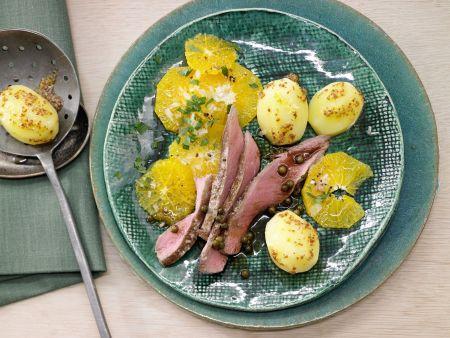 Rezept: Rehrücken mit Senfkartoffeln