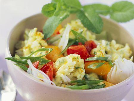 Reis-Mango-Salat mit Tomaten