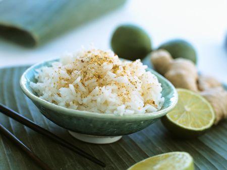 Reis mit Ingwer