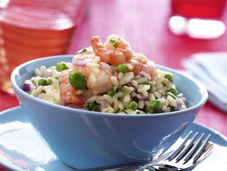 Reis mit Shrimps und Bohnen