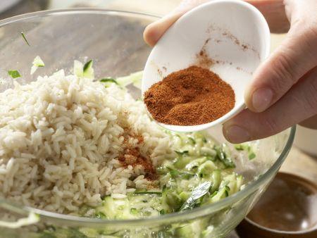 Reis-Zucchini-Puffer: Zubereitungsschritt 4