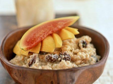 Reispudding mit exotischen Früchten