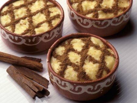 Reispudding mit Zimt auf portugiesische Art