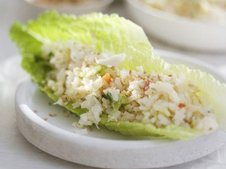 Reissalat mit Krabbenfleisch