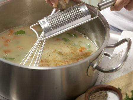 Reissuppe auf griechische Art: Zubereitungsschritt 8
