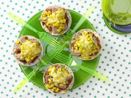 Reiswaffel-Gemüse-Snack »Riesenrad«