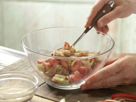 Rhabarber-Limetten-Muffins: Zubereitungsschritt 1