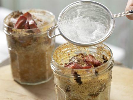 Rhabarberkuchen im Glas: Zubereitungsschritt 6