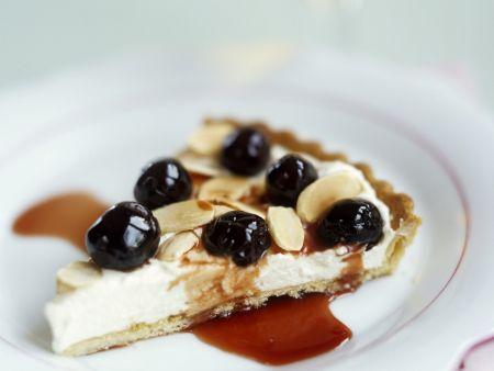 Ricotta-Tarte mit Kirschen nach italienischer Art (Crostata)