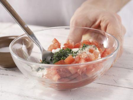 Ricotta-Tomaten-Sandwich: Zubereitungsschritt 2