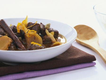 Rezept: Rindereintopf mit Orange und Ingwer