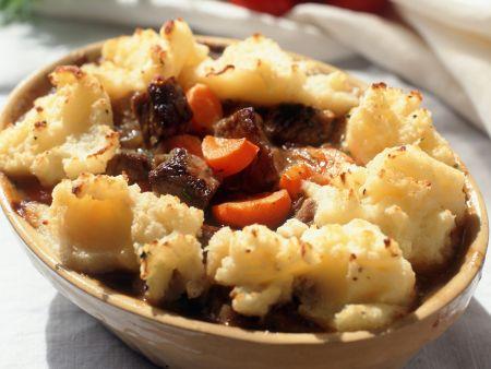 Rinderragout mit Kartoffelbrei