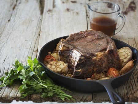 Rindfleisch mit Knoblauch
