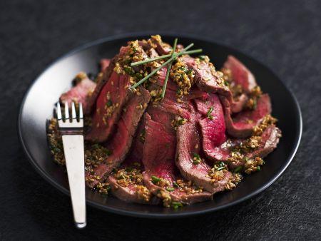 Rindfleisch mit Sesamsauce