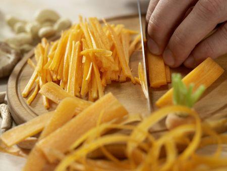 Rindfleisch-Shiitake-Wok: Zubereitungsschritt 2