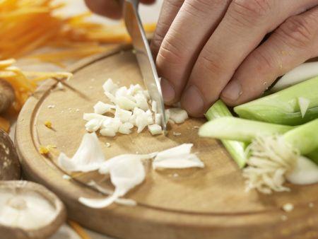 Rindfleisch-Shiitake-Wok: Zubereitungsschritt 5