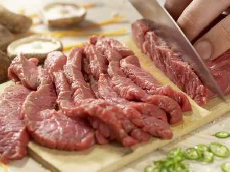 Rindfleisch-Shiitake-Wok: Zubereitungsschritt 7
