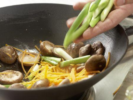 Rindfleisch-Shiitake-Wok: Zubereitungsschritt 9