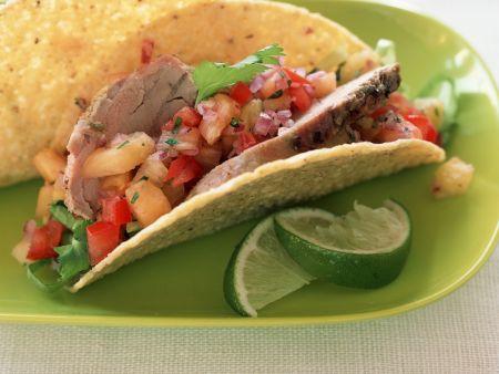 Rindfleisch-Tacos mit Salsa