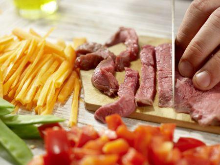 Rindfleisch aus dem Wok: Zubereitungsschritt 5