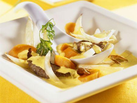 Rindfleischcurry mit Fenchel und Karotten