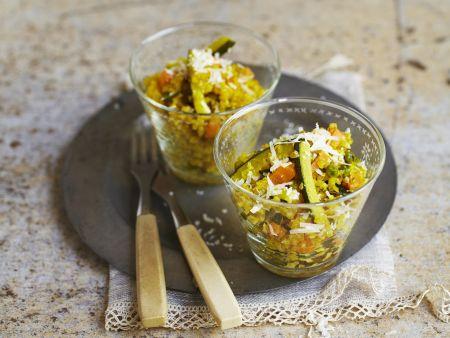 Risotto aus Grieß mit Gemüse