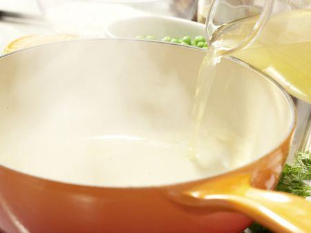 Risotto mit Erbsen: Zubereitungsschritt 2