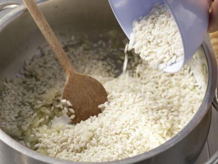 Risotto mit Frischkäse: Zubereitungsschritt 3