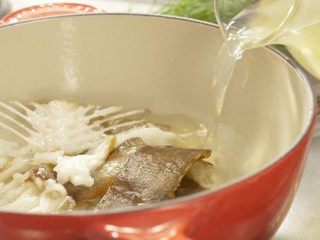 Risotto mit geräuchertem Heilbutt: Zubereitungsschritt 2