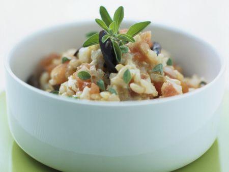 Risotto mit Gemüse und Majoran