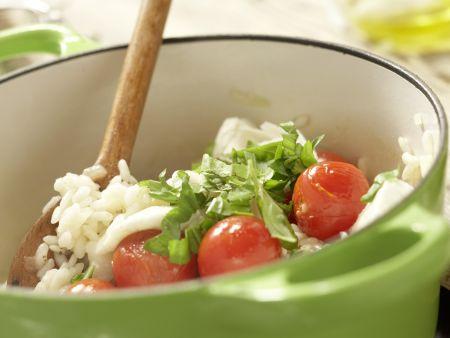Risotto mit Tomaten: Zubereitungsschritt 10