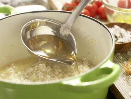 Risotto mit Tomaten: Zubereitungsschritt 6