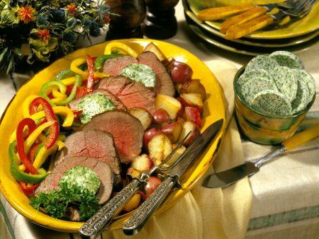 Roastbeef mit Gemüse