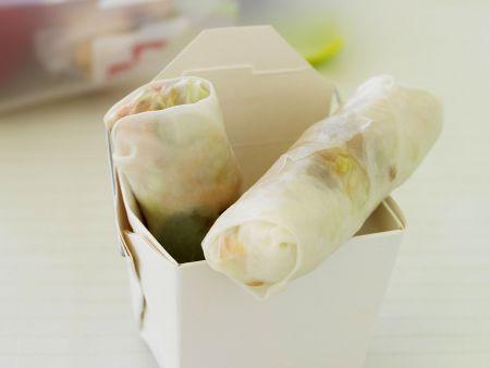 Rezept: Röllchen aus Reispapier