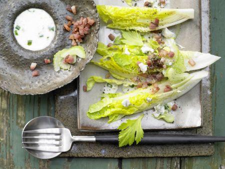 Römersalat mit Roquefort
