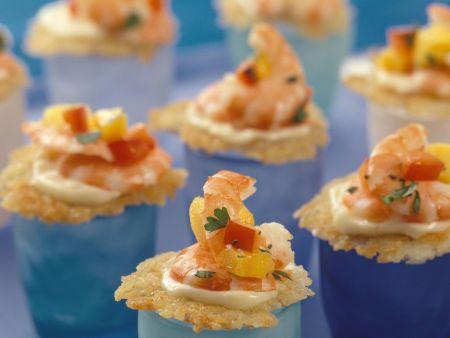 Rösti-Häppchen mit Shrimps