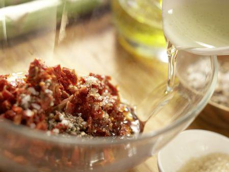 Rotbarbe auf Salate-Mix: Zubereitungsschritt 2