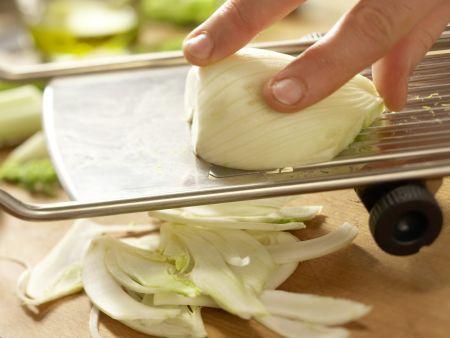 Rotbarbe auf Salate-Mix: Zubereitungsschritt 5