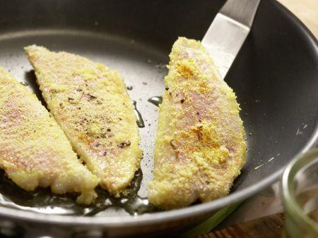 Rotbarbe auf Salate-Mix: Zubereitungsschritt 9