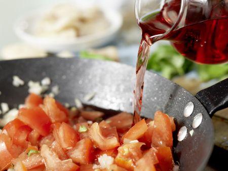 Rotbarbenfilet auf Spaghetti: Zubereitungsschritt 7