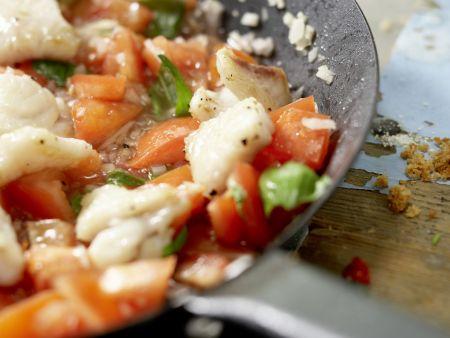 Rotbarbenfilet auf Spaghetti: Zubereitungsschritt 8