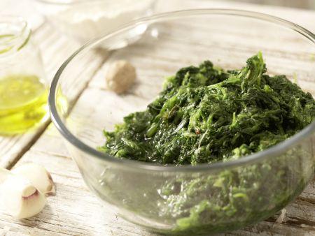 Rotbarsch-Spinat-Auflauf: Zubereitungsschritt 1
