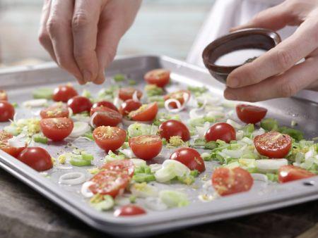 Rotbarschfilet mit Kirschtomaten: Zubereitungsschritt 3