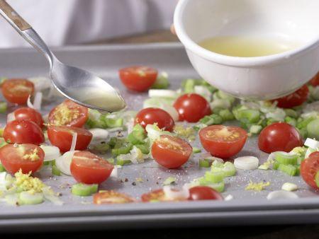 Rotbarschfilet mit Kirschtomaten: Zubereitungsschritt 4