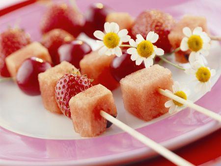 Rote-Obstspieße