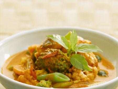 Rezept: Rotes Curry mit Gemüse