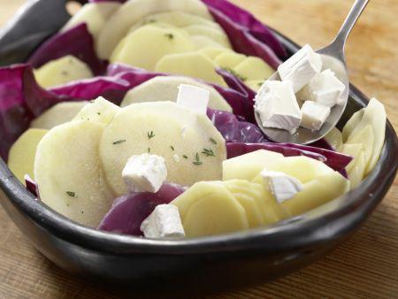 Rotkohl-Kartoffel-Gratin: Zubereitungsschritt 6