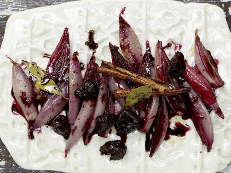 Rezept: Rotweinschalotten