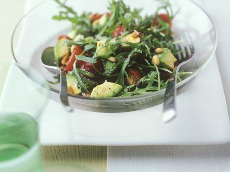 Rezept: Rucola-Avocadosalat